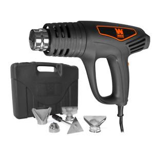 WEN Heat Gun Kit Dual-Temperature 1500-Watt Quiet/Lightweight Design Case Tools
