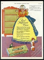 1927 Wrigley's Double Mint gum Old Mother Hubbard theme art vintage print ad