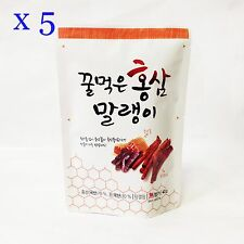 40g x 5 Korean Sliced Red Ginseng Honey Soaked Saponin Anti Nutritious Fatigue