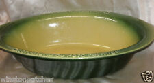 JEAN PIERRE TALLEC OVAL GREEN  EARTHENWARE BOWL CHARCUTERIE DE PORC FERMIER BIG