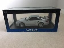 1/18 Porsche 911 997 GT2 Coupe Silver AutoArt Rare!