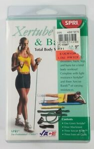 NIP SPRI Xertube and Bands total body workout system Green Light Resistance