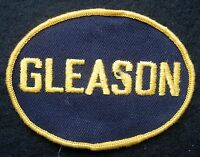 "GLEASON EMBROIDERED SEW ON ONLY PATCH ADVERTISING UNIFORM JACKET  4""  x 2 7/8"""