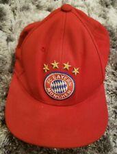 FC BAYERN MUNCHEN ADIDAS Munich Club Red Baseball Hat One Size Fits All EUC
