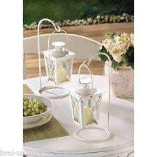 10 White Mini Lantern Small Candleholder Wedding Centerpieces - New
