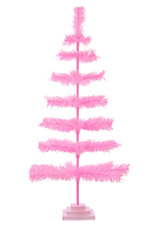 48'' Pink Barbie Tinsel Tree Valentine's Day Holiday Tree 4FT Table-Top XMASS
