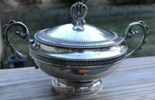 Vintage Plummer Ltd Sterling Silver Sugar Bowl with Lid and Tongs Collectible Great Gift