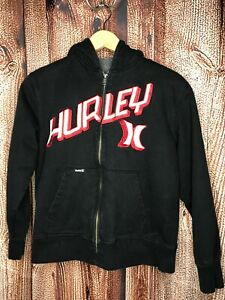 Hurley Youth Boys Zip-Up Hoodie Sweatshirt Size Medium 10-12 Sherpa Lined