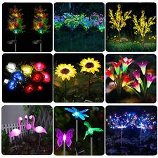 Solar Flower Light  Outdoor Garden Lily Rose Sunflower Landscape Light 10 Style
