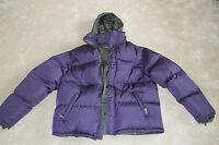 Prada Purple Feather Down Hooded Coat Jacket Size 54 Mens Extra Large XL