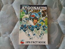 1978 TORONTO ARGONAUTS MEDIA GUIDE Yearbook Program Press Book CFL Football AD