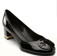 Tory Burch Amy Black Patent Leather Heels Size 8