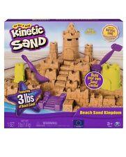 Kinetic Sand Beach Sand Kingdom Playset with 3lbs of Beach Sand,