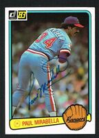 Paul Mirabella #541 signed autograph auto 1983 Donruss Baseball Trading Card