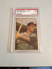 1953 BOWMAN COLOR EDDIE MATHEWS #97 BASEBALL CARD (PSA GRADED VG 3) 6369
