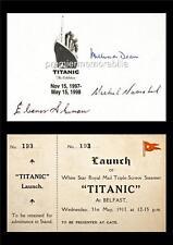 RMS TITANIC MILLVINA DEAN ELEANOR SHUMAN MICHEL NAVRATIL SIGNED (PRINTED) PRINT