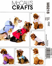 McCall's Pattern M6218 Dog clothes Vest Coat Dress Jacket Hoodie Raincoat 6218