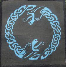 Printed Sew On Patch - 2 HEADED CELTIC OUROBOUROS - Vest, Bag, Backpack, Jacket!