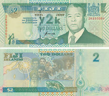 Fidschi / FIJI - 2 Dollars 2000 UNC - Pick 102, Gedenkausgabe, Serie 2K
