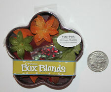 PETALOO Box Blends, Glitter Dahlia Blend, Burg/Orng/Green/Brown, 20 Flowers +Box