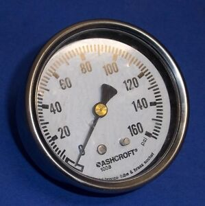ASHCROFT 160 PSI 1/4 IN. NPT BM PRESSURE GAUGE, 1008