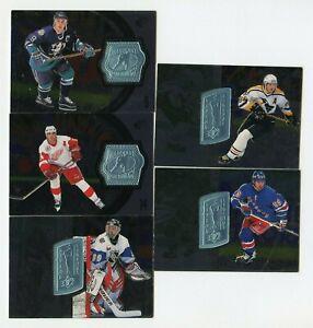 Lot (68) Different 1998-99 SPx Finite Hockey Partial Gretzky Jagr Legends /1620