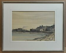 Harbour View. Watercolour by listed artist Claude Muncaster RWS ROI PMSA 1930