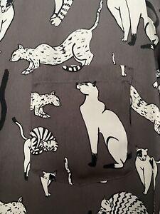 Zara Cat Print Tunic Size M