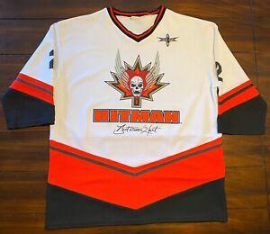 Rare Vintage WCW Bret The Hitman Hart Hockey Jersey