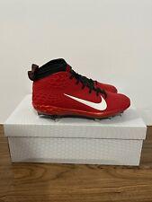 Nike Force Zoom Trout 5 Baseball Cleats University Red Black AH3373-601 Sz 9.5