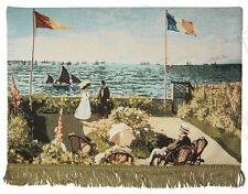 Tapestry Wall Hanging MONET Terrace Saint-Adresse Seaside Landscape French ART