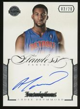 2012-13 Panini Flawless Inscriptions Andre Drummond AUTO 2/20 Detroit Pistons