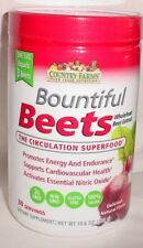 Country Farms Bountiful  Beets 300 gm  1 Month Supply  NEW free shipping