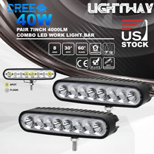 "2x 7"" Inch 40W CREE LED Work Light Bar Spot Flood Combo ATV Offroad Driving Lamp"
