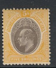 Southern Nigeria 5 Shilling Stamp  Sg30a 1908 - mounted mint