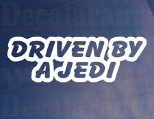 DRIVEN BY A JEDI Funny Star Wars Fan Car/Van/Window/Bumper/Boot Sticker