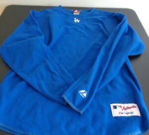 LOS ANGELES DODGERS Baseball MAJESTIC Authentic Size MEDIUM Sweatshirt MLB Blue