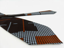 Cravatta VINTAGE Cesare Balzano Marrone Necktie 100% Seta Silk MADE IN ITALY