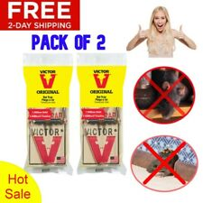 New listing Victor Metal Pedal Rat Mouse Trap Rodent Pest Control Home Office Wood Snap 2Pcs