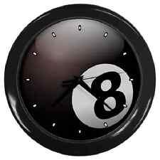 Reloj De Pared Negro De Pool Y Billar Bola de 8 ** ** Excelente artículo