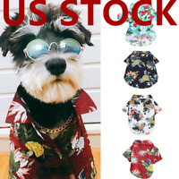 Dog Hawaiian T-Shirt Shirt Pets Cat Small Dog Clothes Bulldog Costumes Apparel