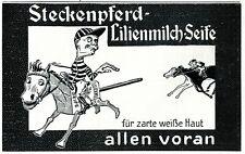 Steckenpferd Hobby Horse Soap 1909 ad horse race advertising jockey