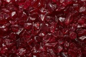 "RED Multi-Purpose Premium Decor Aquarium, Fire Glass Rock 1/4""-1/2"" inch Crushed"