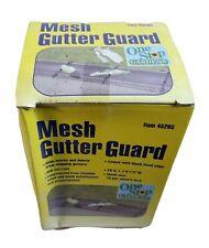 """MESH GUTTER GUARD 20ft One Step Gardens 6.5"""" Wide"""