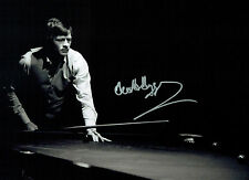 Alex HIGGINS Signed Autograph Large 16x12 SNOOKER Table RARE Photo AFTAL COA