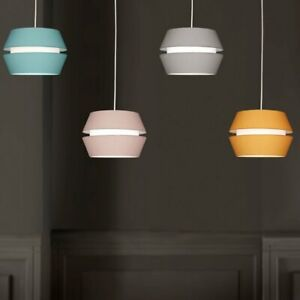 Ceiling Lightshade Pendant in 4 Colours, Non Electric Shade Cotton Fabric 2 Tier