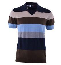 Camisas y polos de hombre multicolores color principal azul 100% algodón