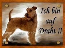 Irish Terrier / Türschild / Warnschild
