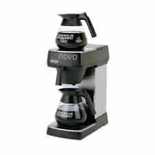 More details for bravilor bonamat coffee machine in black stainless steel with manual fill filter