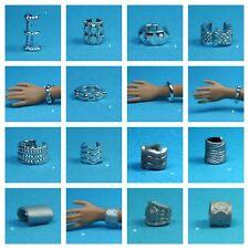Barbie Fashionistas Set 19 Choose Pick 1 Silver Color Bracelet for 1/6 Doll